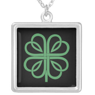 Four Leaf Clover design Silver Plated Necklace
