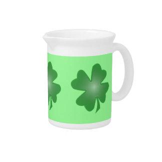Four Leaf Clover Drink Pitcher