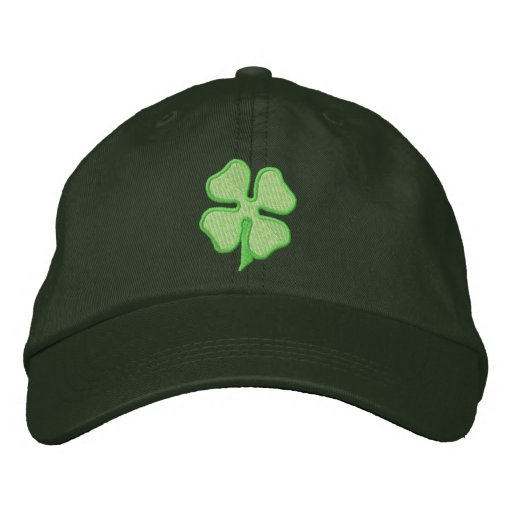 Four- Leaf Clover Embroidered Baseball Hat  63410a78465