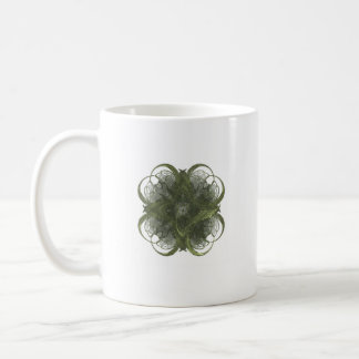 Four Leaf Clover Fractal Art Classic White Coffee Mug