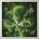 Four-Leaf Clover Fractal Posters
