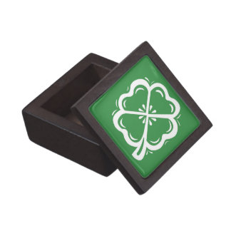 Four Leaf Clover Green Keepsake Box