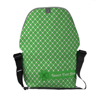Four leaf Clover Hearts pattern Customizable Courier Bag