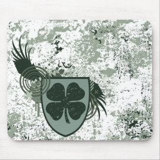 four leaf clover : hi-fi : mouse pad