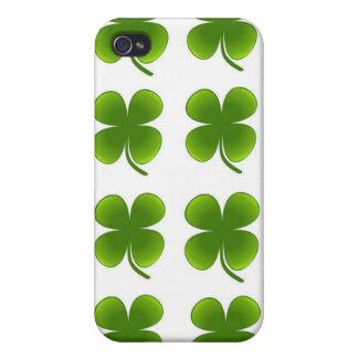 Four Leaf Clover Iphone 4 case Shamrock