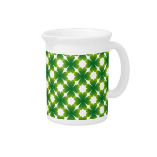 Four Leaf Clover Irish Shamrock Custom Gift Item Pitcher