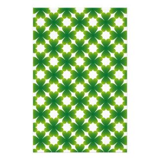 Four Leaf Clover Irish Shamrock Custom Gift Item Stationery