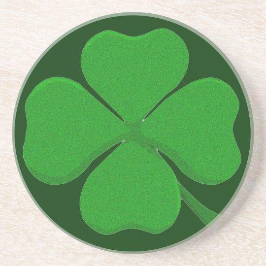 Four Leaf Clover - Irish Shamrock Drink Coaster