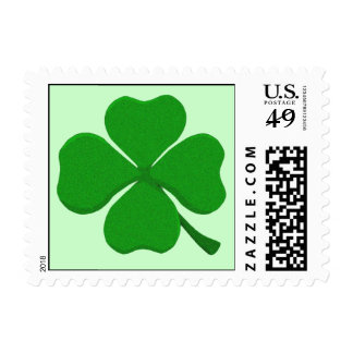 Four Leaf Clover - Irish Shamrock Stamp