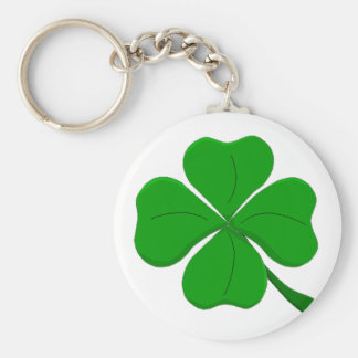 four-leaf-clover basic round button keychain