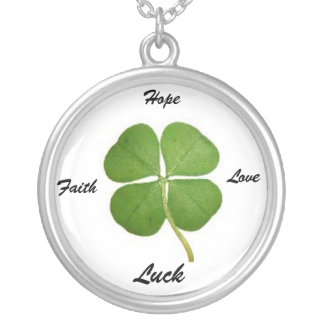 Four Leaf Clover Legend Silver Plated Necklace
