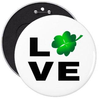 Four Leaf Clover - Love Button