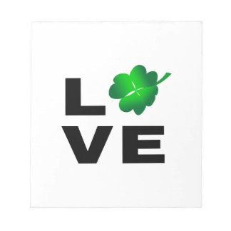 Four Leaf Clover - Love Note Pad