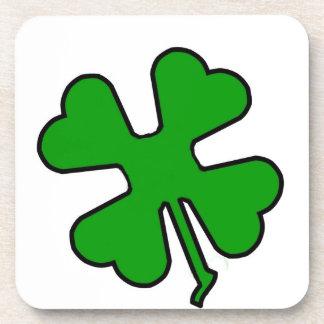 Four Leaf Clover (Lucky) Beverage Coaster