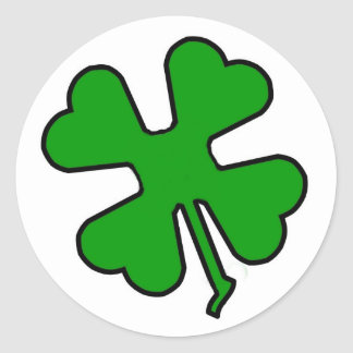 Four Leaf Clover (Lucky) Classic Round Sticker