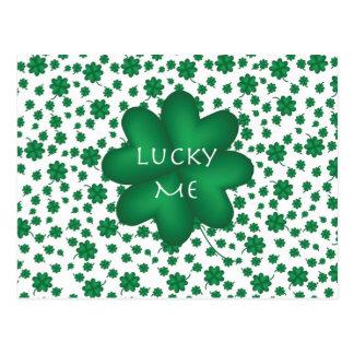 Four Leaf Clover Lucky Me Postcard