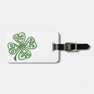 Four-Leaf Clover Luggage Tag