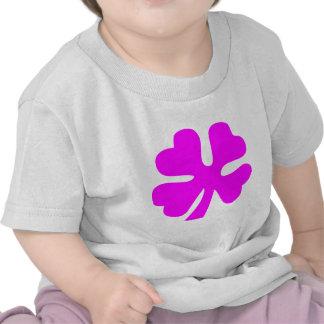 Four Leaf Clover - Magenta T Shirts