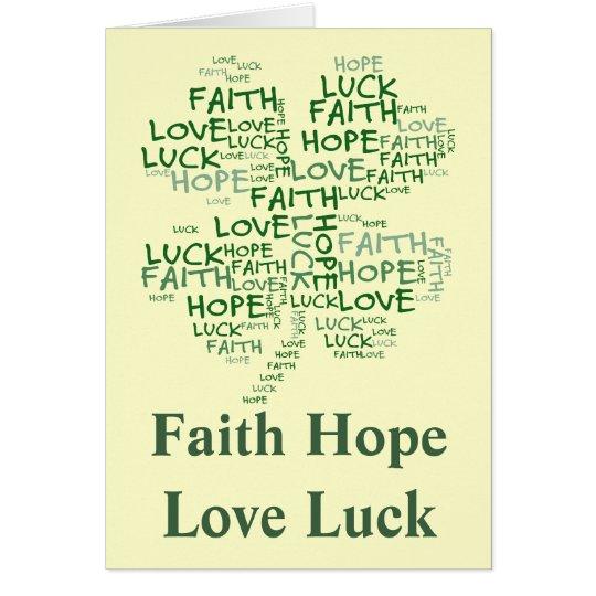 Four Leaf Clover Meaning: Hope, Faith, Love, Luck Card