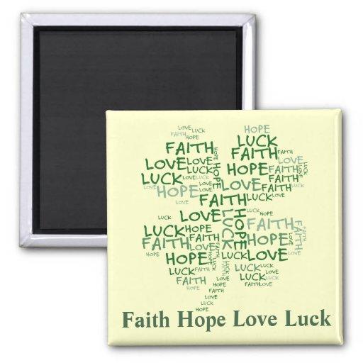 Four Leaf Clover Meaning: Hope, Faith, Love, Luck Magnets