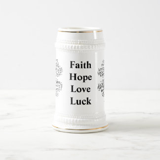 Four Leaf Clover Meaning: Hope, Faith, Love, Luck Mug