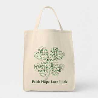 Four Leaf Clover Meaning: Hope, Faith, Love, Luck Tote Bag