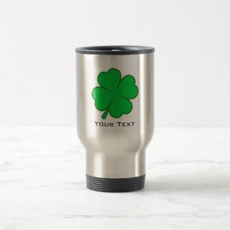 Four Leaf Clover; metal-look 15 Oz Stainless Steel Travel Mug