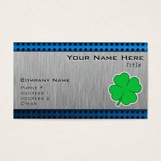 Four Leaf Clover; metal-look Business Card
