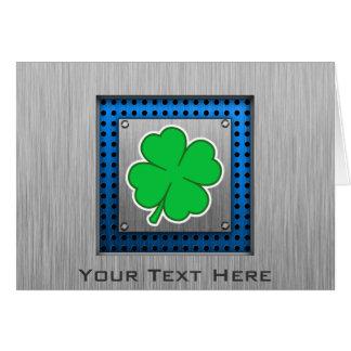 Four Leaf Clover; metal-look Card