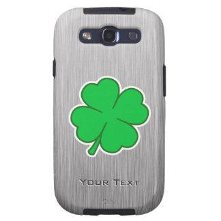 Four Leaf Clover; metal-look Samsung Galaxy S3 Cases