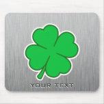 Four Leaf Clover; metal-look Mousepad