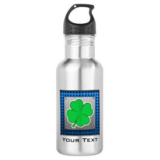 Four Leaf Clover; metal-look 18oz Water Bottle