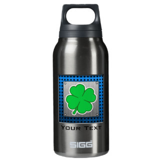 Four Leaf Clover; metal-look 10 Oz Insulated SIGG Thermos Water Bottle