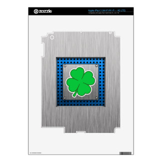 Four Leaf Clover metal-look Decals For iPad 3