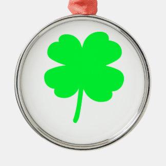 Four Leaf Clover Metal Ornament