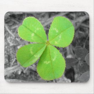 Four Leaf Clover Mousepad - Black & White & Color