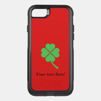 Four-leaf clover OtterBox commuter iPhone 7 case