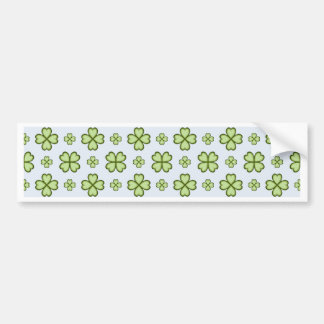 Four leaf clover pattern bumper sticker
