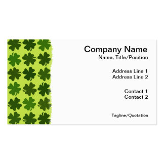 Four Leaf Clover Pattern Business Card