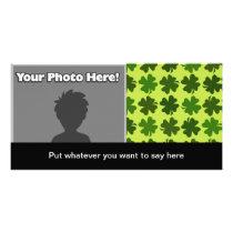Four Leaf Clover Pattern Card