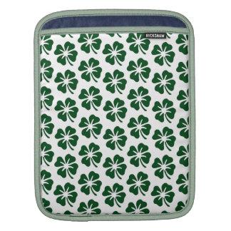 Four Leaf Clover Pattern iPad Sleeve