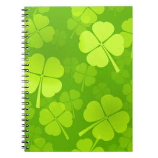 Four-Leaf Clover Pattern Notebook
