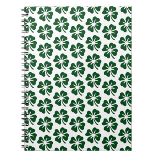 Four Leaf Clover Pattern Notebook