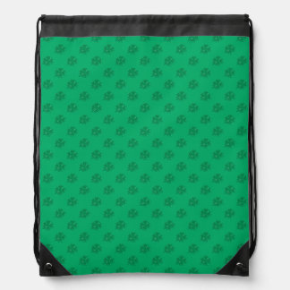 Four Leaf Clover Pattern on Green Background Backpack
