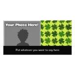 Four Leaf Clover Pattern Photo Card