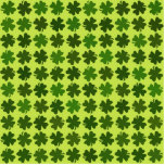 Four Leaf Clover Pattern Photo Cut Outs