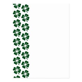 Four Leaf Clover Pattern Postcards