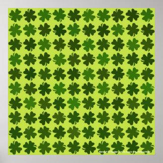 Four Leaf Clover Pattern Poster