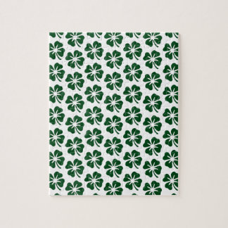 Four Leaf Clover Pattern Jigsaw Puzzles