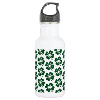 Four Leaf Clover Pattern Water Bottle